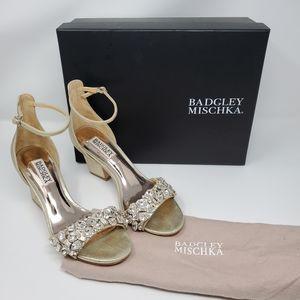Laraine Satin Block Heel Dress Sandals